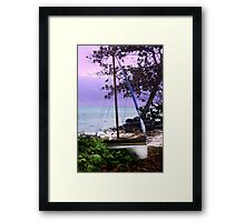 Home and rested Framed Print