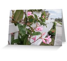 Fence full of Flowers Greeting Card