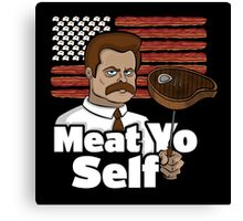Meat Yo Self Canvas Print