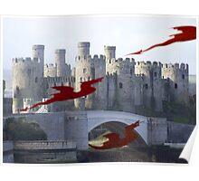 Dragons at play Poster