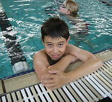 Boy in a pool by observer11