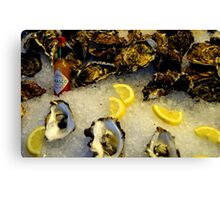 County Down Oysters and Louisiana Sauce! Canvas Print