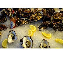 County Down Oysters and Louisiana Sauce! Photographic Print