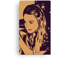 Torn Paper Mood Canvas Print