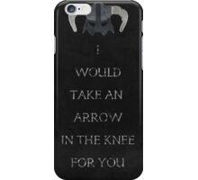 Skyrim inspired valentine. iPhone Case/Skin