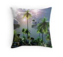 Tropical Serenity Throw Pillow