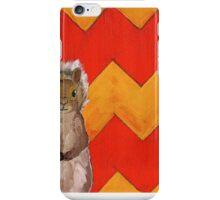 Yellow and Orange Chevron Squirrel iPhone Case/Skin