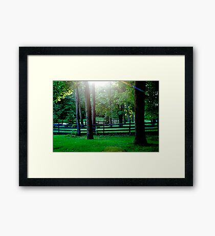 View from my front yard Framed Print