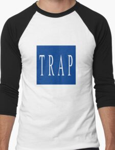 TRAP - Blue Men's Baseball ¾ T-Shirt