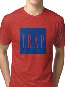 TRAP - Blue Tri-blend T-Shirt
