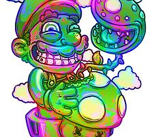 Trippy Mario by JoeyKnuckles