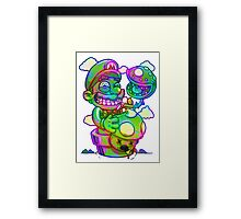 Trippy Mario Framed Print