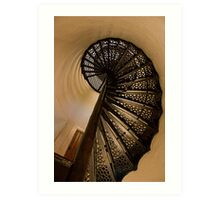 Spiral Stairs Of Door County Lighthouse Art Print
