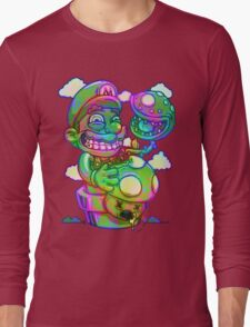 Trippy Mario Long Sleeve T-Shirt