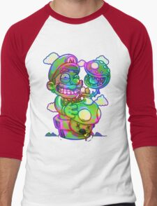 Trippy Mario Men's Baseball ¾ T-Shirt