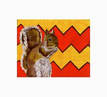 Yellow and Orange Chevron Squirrel Unisex T-Shirt
