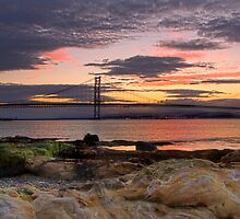 Forth Road Bridge - Sunset by Chris Clark