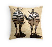 Smiling stripes Throw Pillow