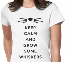 GROW SOME WHISKERS Womens Fitted T-Shirt