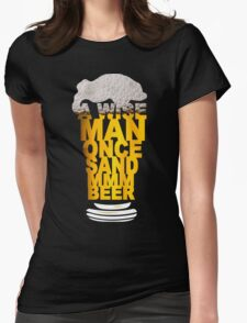 MMM BEER! Funny Geek Nerd Womens Fitted T-Shirt