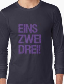 Eins Zwei Drei-Black Long Sleeve T-Shirt