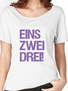 Eins Zwei Drei-Black Women's Relaxed Fit T-Shirt