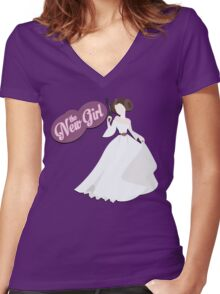 The New Girl Women's Fitted V-Neck T-Shirt