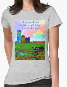 the other side of the rainbow Womens Fitted T-Shirt