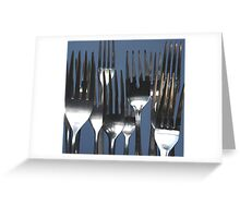 Forks Greeting Card