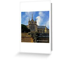 France - Notre Dame from Seine Greeting Card