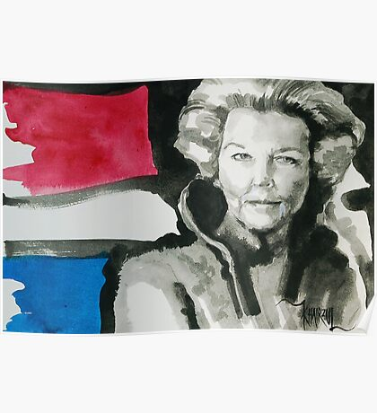Queen Beatrix of The Netherlands Poster