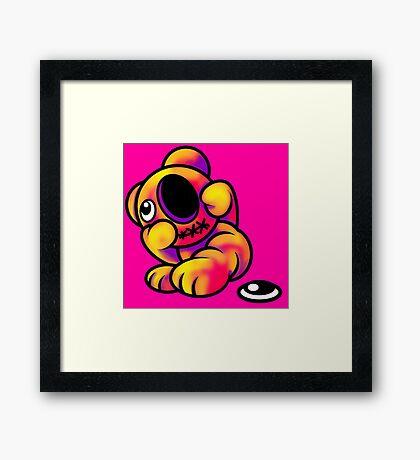 Missing Eye Teddy Bear Bright Framed Print