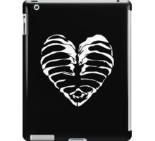 skeleton heart black iPad Case/Skin