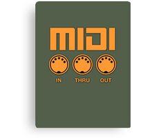 Midi  Orange Canvas Print