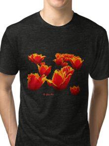 Fire flowers Tri-blend T-Shirt