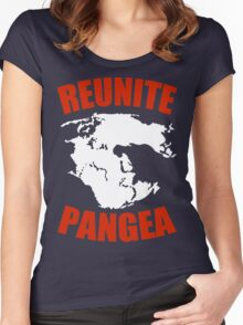 Reunite Pangea Funny Geek Nerd Women's Fitted Scoop T-Shirt