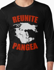 Reunite Pangea Funny Geek Nerd Long Sleeve T-Shirt