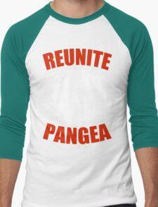 Reunite Pangea Funny Geek Nerd Men's Baseball ¾ T-Shirt