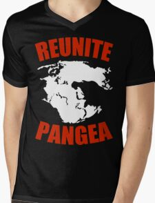 Reunite Pangea Funny Geek Nerd Mens V-Neck T-Shirt