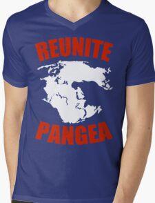 Reunite Pangea Funny Geek Nerd Mens V-Neck T-Shirt