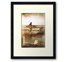 Vintage Surfer Framed Print