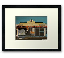 Pizza Lounge Framed Print