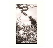 Death Kiss Art Print