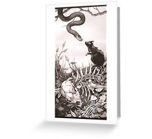 Death Kiss Greeting Card