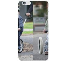 Cycling in the park iPhone Case/Skin