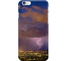 Storm and Suburban Adelaide Lights iPhone Case/Skin