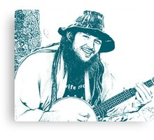 Banjo Hippie Canvas Print