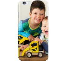 Boys and their diggers iPhone Case/Skin