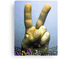 """Peace Rules"" Metal Print"