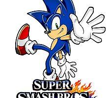 Super Smash Bros. 3DS/Wii U Sonic T-Shirt by KwanChau